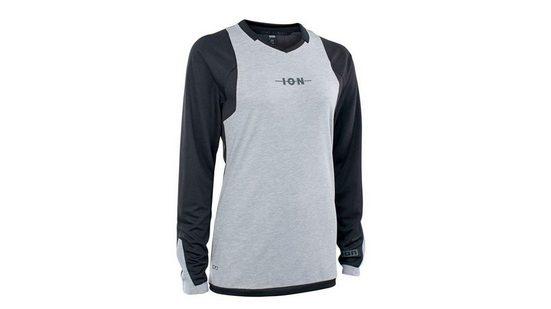 ION Radtrikot »ION Damen Scrub Amp Radshirt lang schwarz grau«