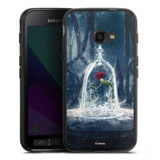 DeinDesign Handyhülle »Rose under glass movie« Samsung Galaxy Xcover 4s, Hülle Die Schöne und das Biest Disney Princess
