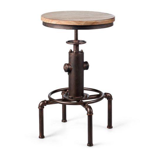COSTWAY Barhocker »Tresenhocker, Bistrohocker, Küchenhocker«, mit Fußstütze, ideal für Restaurants, Cafés