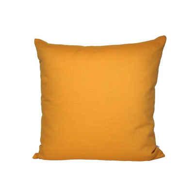 beties Kissenbezug »Farbenspiel«, ca. 40x40 cm Kissenbezug in interessanter Größen- und Farbauswahl 100% Baumwolle für eine fröhlich Stimmung Uni Farbe (Senf-Gelb)