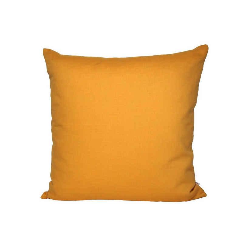 Kissenbezug »Farbenspiel«, beties, ca. 40x40 cm Kissenbezug in interessanter Größen- und Farbauswahl 100% Baumwolle für eine fröhlich Stimmung Uni Farbe (Senf-Gelb)