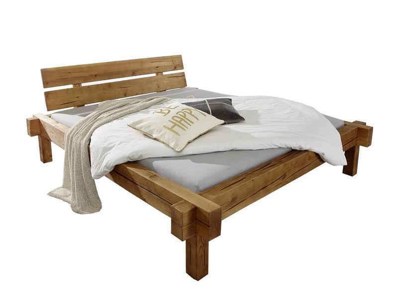 SAM® Holzbett »Sibu«, Holzbett 140x200 honigfarben