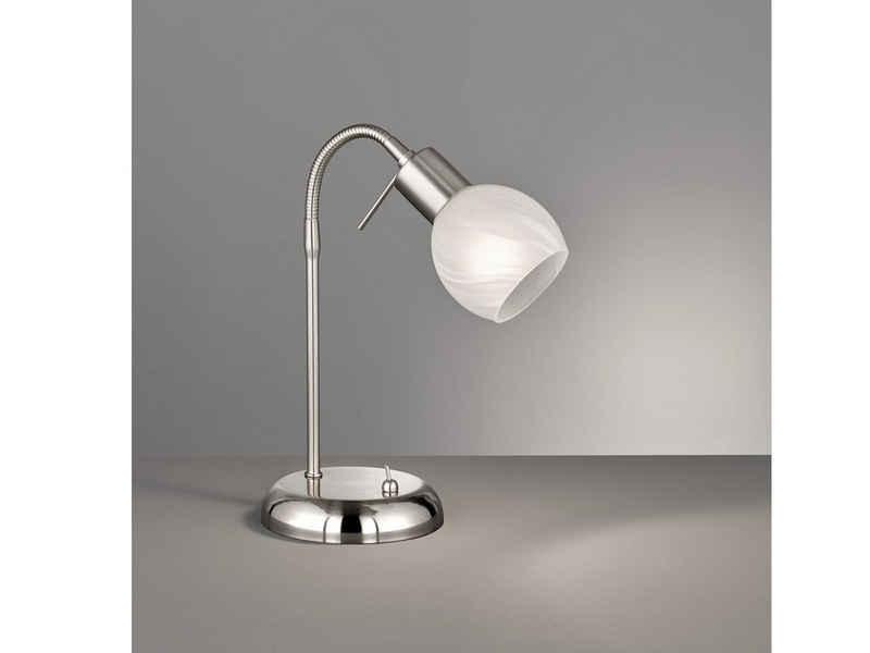 meineWunschleuchte LED Schreibtischlampe, Retro Leselampe & Arbeitsplatz-Leuchte für Büro-Beleuchtung, Design-Klassiker Bürolampe für Schreibtischbeleuchtung & Nachttischleuchte