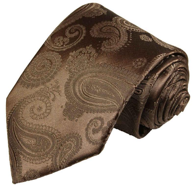 Paul Malone Krawatte »Herren Hochzeitskrawatte paisley klassisch elegant - Mikrofaser - Bräutigam Hochzeitsmode« Breit (8cm), braun V96