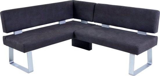K+W Komfort & Wohnen Eckbank »SANTOS II«, gepolstert, Eckbank mit Abstandshalter, wahlweise langer Schenkel 180cm rechts oder links
