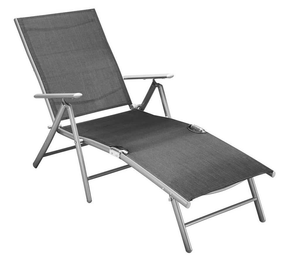 Merxx Gartenliege Alutextil Klappbar Sonnenliege Mit Gestell Aus Hochwertigem Aluminium Online Kaufen Otto