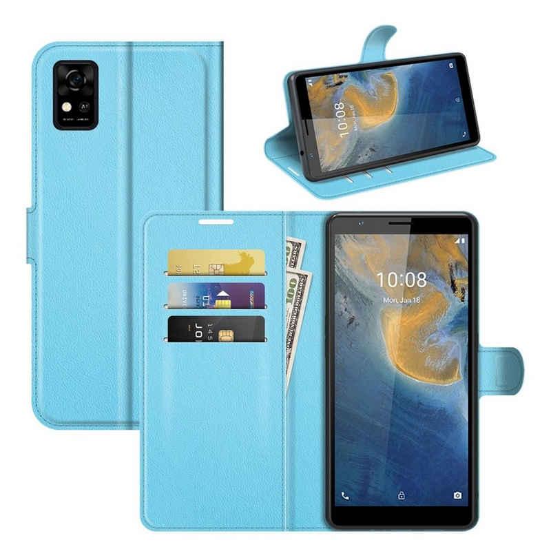 König Design Handyhülle, Schutzhülle für ZTE Blade A31 Handy Hülle Tasche Case Cover Blau