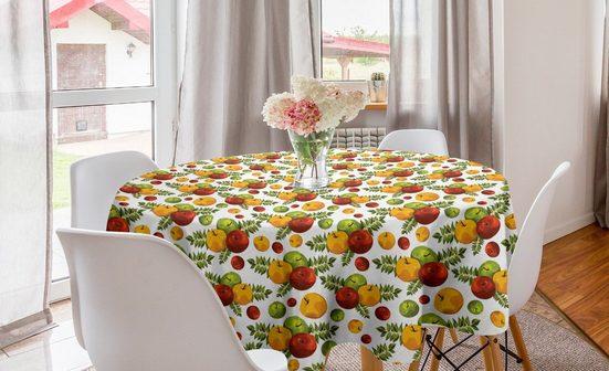 Abakuhaus Tischdecke »Kreis Tischdecke Abdeckung für Esszimmer Küche Dekoration«, Apfel Herbst-Ernte-Saison