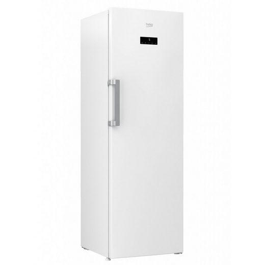 BEKO Gefrierschrank RFNE312E33W A++, 185 cm hoch, 59.5 cm breit, Supergefrierschaltung Vorgefriertablett mit Eiswürfelschale