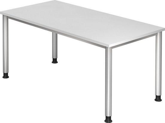 bümö Schreibtisch »OM-HS16«, höhenverstellbar - Rechteck: 160x80 cm - Dekor: Weiß