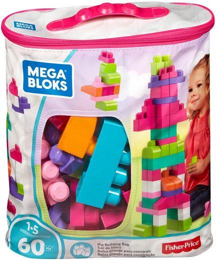 MEGA BLOKS Spielbausteine »First Builders, Bausteine-Beutel, pink«, (60 St)