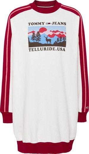 TOMMY JEANS Sweatkleid »TJW SKI SWEAT DRESS« mit großem, sportivem Frontprint