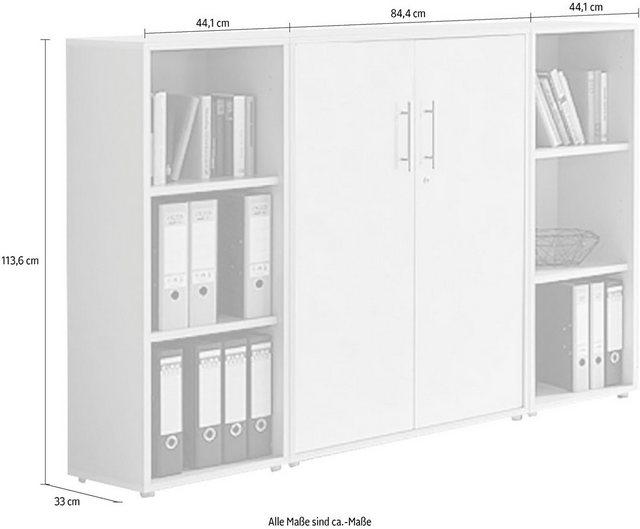Büromöbel Sets - BMG Büro Set »TABOR 2 niedrig«, (Set, 2 tlg)  - Onlineshop OTTO