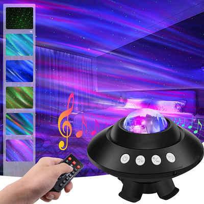 XIIW LED Nachtlicht »Sternenhimmel Projektor Lampe, LED Sternenlicht Projektor Galaxy«, mit Bluetooth, Lautsprecher Musik, USB, Dimmbar, Sternenhimmel