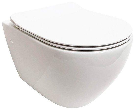 ADOB Tiefspül-WC, Spülrandlos, inkl. Slim-WC-Sitz und Schallschutzmatte