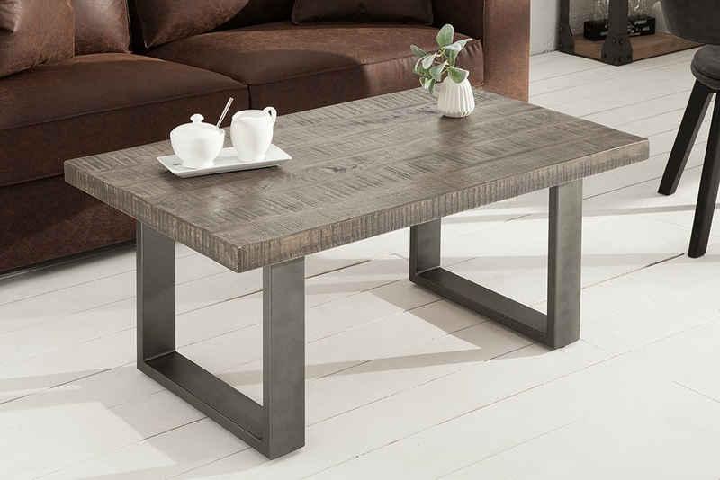 riess-ambiente Couchtisch »IRON CRAFT 100cm grau«, Wohnzimmer · Massivholz · Metall · eckig · Industrial Design