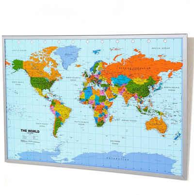Schneider Pinnwand, Memoboard, aus Kork, Motiv Weltkarte