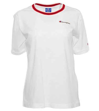 Champion Crop-Top »Champion T-Shirt lässiges Damen Kurzarm Shirt mit Rückenprint Sommer-Shirt Weiß«