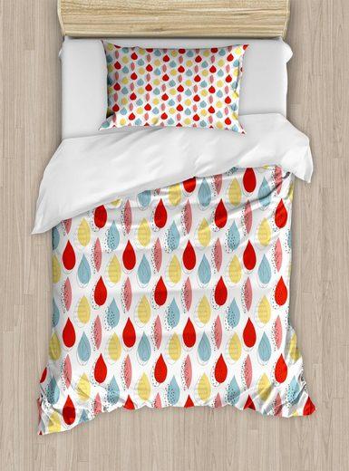 Bettwäsche »Top Qualität Weich und Warm 3 Teiligen Bettbezug mit 1 Kissenbezüge«, Abakuhaus, Blumen Blätter und Silhouetten Kunst