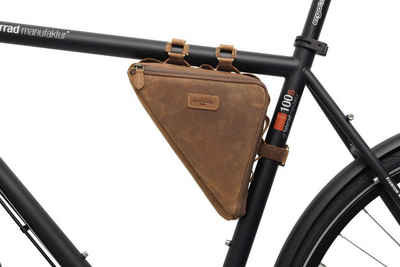 Gusti Leder Rahmentasche »Marshall T.«, Rahmentasche Fahrradtasche Ledertasche Vintage Braun Leder