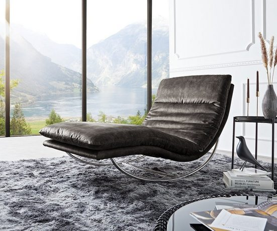 DELIFE Relaxliege »Daily«, Dreams Anthrazit 95 cm Schaukelgestell by W. Schillig