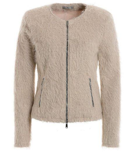 TUZZI Blouson »TUZZI Boho-Deluxe Jacke leichte Damen Übergangs-Jacke mit fusseligem Effektgarn Freizeit-Jacke Alt-Rosa«
