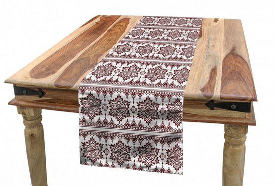 Abakuhaus Tischläufer »Esszimmer Küche Rechteckiger Dekorativer Tischläufer«, Brown Mandala Art-Kunst