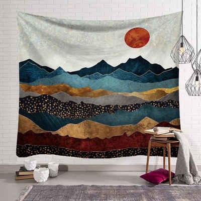 Wandteppich, Masbekte, aus Weiches Mikrofaser Stoff,das Wohn und Schlafzimmer, rechteckig, Sunrise Landscape