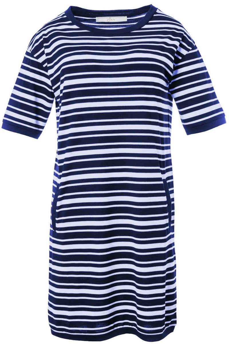 SER Shirtkleid »Shirtkleid Ringel W3210112 auch in großen Größen«