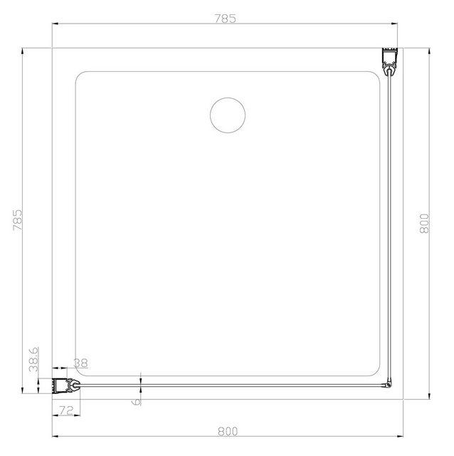 Duschen und Zubehör - WELLTIME Eckdusche »Florenz«, Duschkabine, Eckeinstieg, BxT 80 x 80 cm  - Onlineshop OTTO
