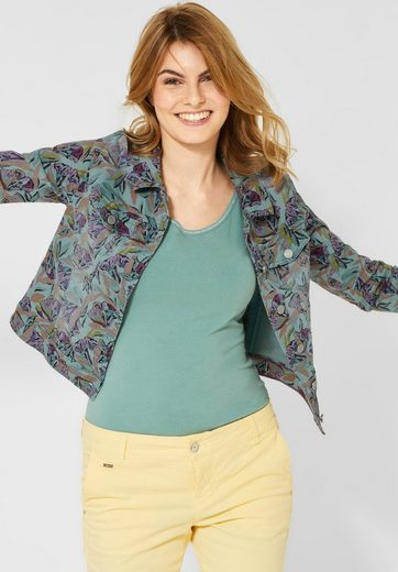 STREET ONE Jeansjacke mit Tropical Print