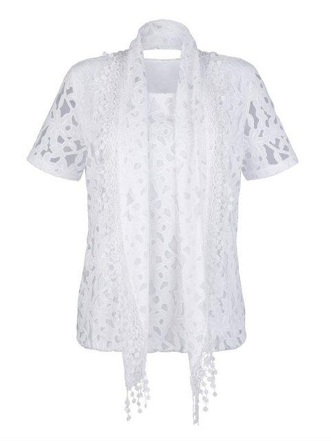 Mona Shirt mit Schal | Bekleidung > Shirts > Rundhalsshirts | Mona