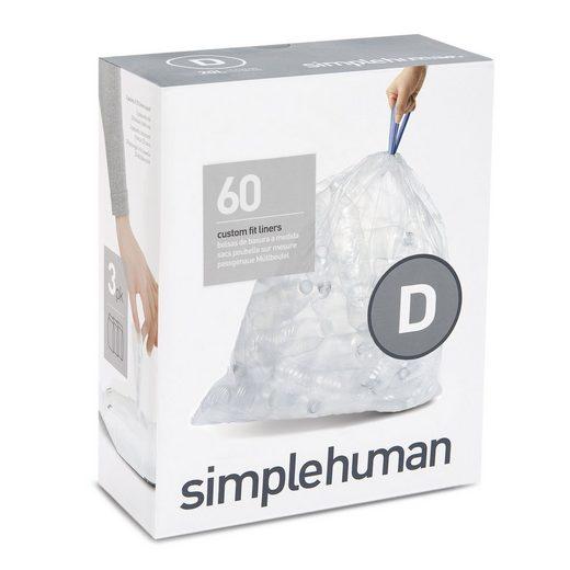 simplehuman Müllbeutel passgenaue Müllbeutel Nachfüllpack code D