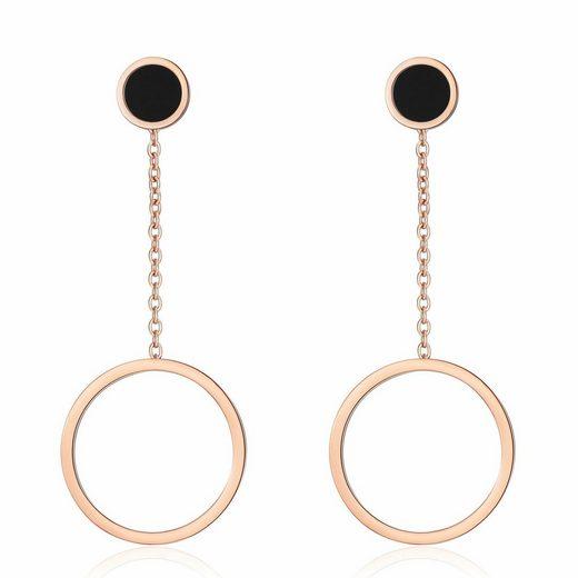 AILORIA Paar Ohrhänger »ARMELLE«, Ohrringe aus glänzendem Edelstahl