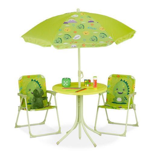 relaxdays Campingstuhl »Camping Kindersitzgruppe mit Schirm«