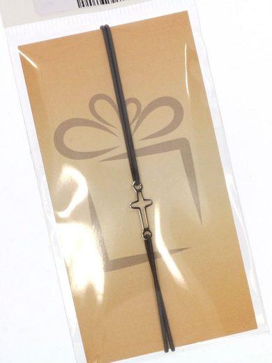 Adelia´s Armband »Damen Schmuck Armband 925 rosé Silber grau Kreuz«