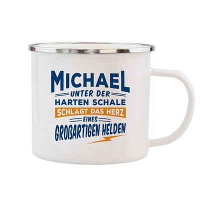 HTI-Living Becher »Echter Kerl Emaille Becher Michael«, Emaille