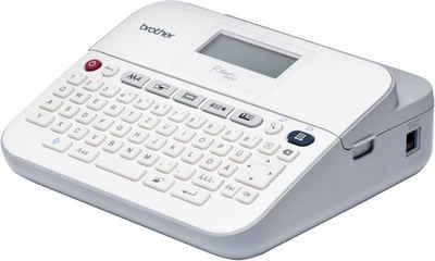 Brother P-touch D400VP Beschriftungsgerät mit Koffer mobiler Drucker, (Beschriftungsdrucker)