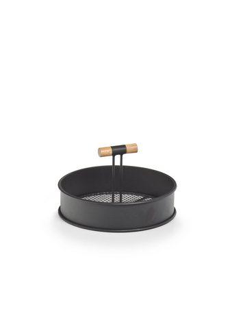 Zeller Present Tablett Metall Holz (1-tlg) Ø 20 cm