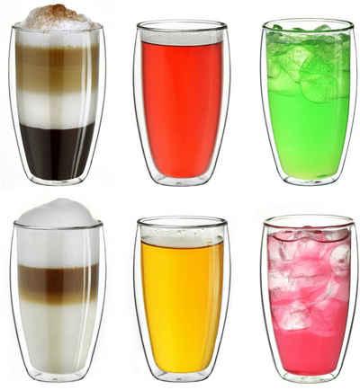 Creano Thermoglas, Borosilikatglas, hoch, 400 ml, 6-teilig