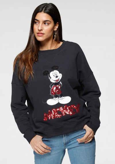 s.Oliver Sweatshirt mit coolem Mickey Mouse Paillettenmotiv