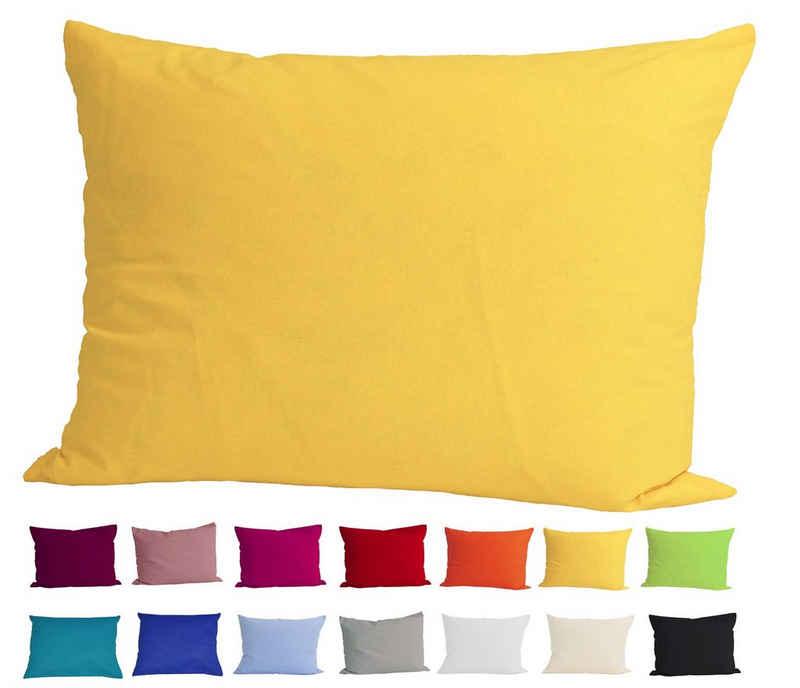 Kissenbezug »Basic«, beties, Kissenhülle ca. 40x60 cm 100% Baumwolle in vielen kräftigen Uni-Farben (gelb)