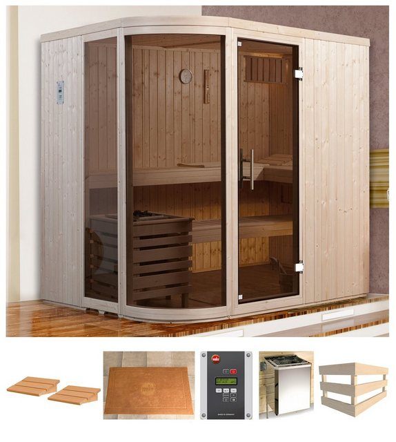 Saunen und Zubehör - weka Sauna »Sara 1«, BxTxH 194 x 194 x 199 cm, 68 mm, 7,5 kW Bio Kombiofen mit ext. Strg.  - Onlineshop OTTO