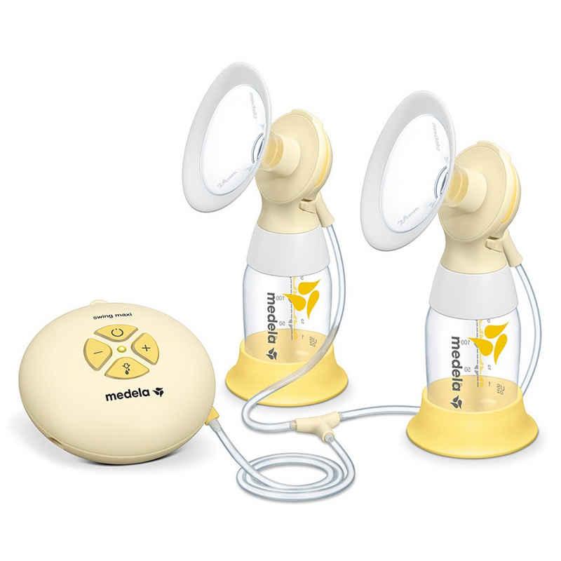 MEDELA Handmilchpumpe »Swing Maxi Flex«, 12-tlg., 1x Elektrische Doppel-Milchpumpe, für beidseitiges Abpumpen - mit 150 ml Flaschen - für zuhause und unterwegs