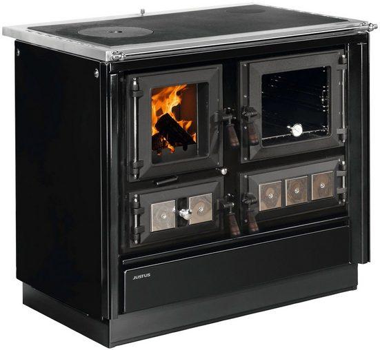 JUSTUS Festbrennstoffherd »Rustico-90 2.0«, 7,2 kW, Zeitbrand