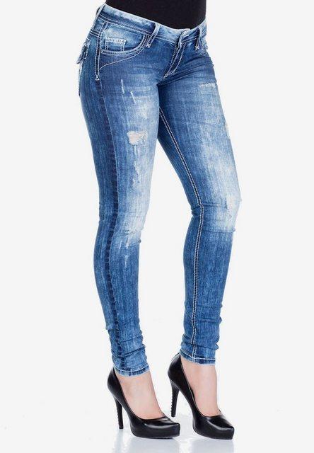 Hosen - Cipo Baxx Slim fit Jeans im Slim Fit Schnitt mit Stickerei in Straight Fİt ›  - Onlineshop OTTO