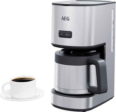 AEG Filterkaffeemaschine CM4-1-6ST Gourmet 6, 1,25l Kaffeekanne, Permanentfilter 1x4