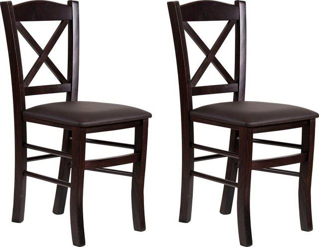 Stühle und Bänke - Home affaire Esszimmerstuhl »Clayton« mit Gestell aus Massivholz im 2er set  - Onlineshop OTTO