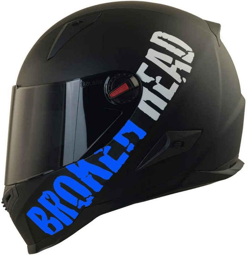 Broken Head Motorradhelm »BeProud Blau« (mit schwarzem und klarem Visier), inklusive 2 Visieren