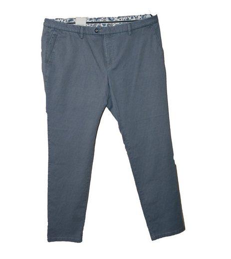 bugatti Stretch-Hose »bugatti Stretch-Hose gemütliche Herren Freizeit-Jeans mit Allover Punkte-Muster Sommer-Hose Marine«